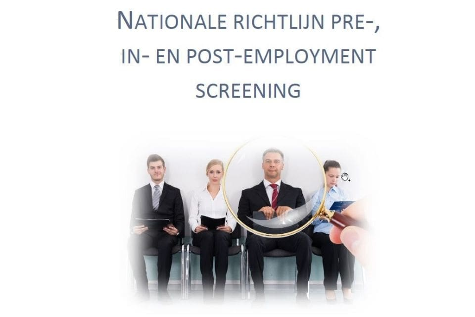 Nationale richtlijn employment screeningen